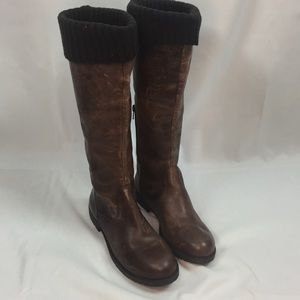 NWOB Gianni Bini Distressed Leather Riding Boot 🌿